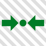 Pressure Horizontal vector icon. Image style is a flat green pictograph symbol on a hatched diagonal transparent background.