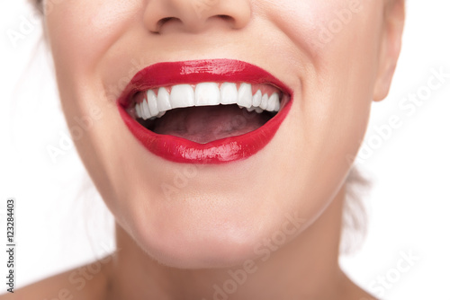 Juliste Beautiful red lips and teeth.