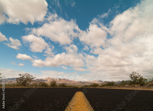 Road trip in Death Valley National Park in California. Poster
