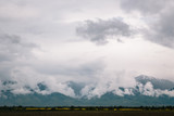 Fagaras mountains with clouds