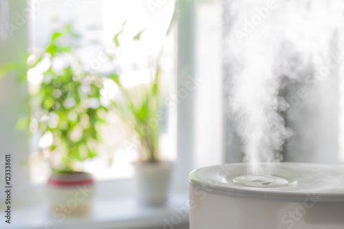 Humidifier spreading steam Poster