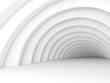 Abstract tunnel interior background 3d