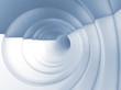 Vortex tunnel interior, light blue toned 3d