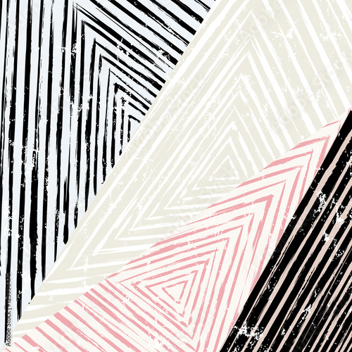 abstract geometric pattern background, with triangles, stripes, - 123356475