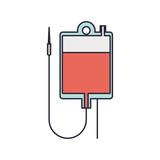 hanging bag for blood donation vector illustration