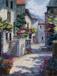 Art Oil Painting Picture Flower Street - 123367088