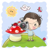 Cute cartoon Boy with a camera