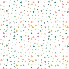 Party celebration confetti triangles pattern.