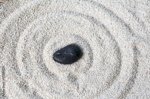 Spoed canvasdoek 2cm dik Stenen in het Zand Zen Stone