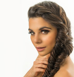 woman with braided long hair