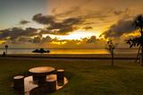 沖縄 アラハビーチの夕焼け