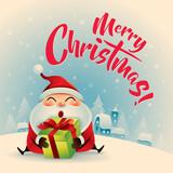 Merry Christmas! Vintage christmas greeting card.