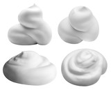 white foam isolated on white background with clipping path - 123418803