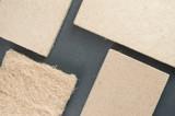 compressed thermal insulating hemp fiber panels - slate background - 123450214
