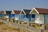 Beach huts at Lancing, Sussex, England