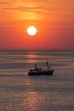 Fishing Trawler - The North Sea - Sunset poster