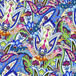 India seamless paisley pattern. Floral ornament, for fabric, textile - 123471625
