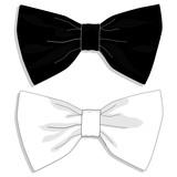 Bow tie fasion set. Vector.