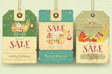 Christmas Supermarket Sale Tags