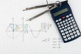 Trigonometry - maths background - 123485087