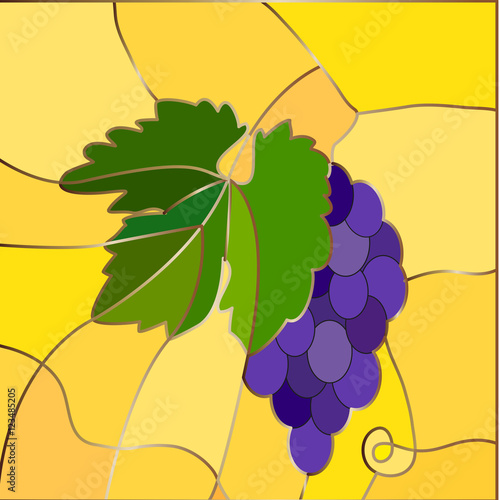 grape-bunch-of-stained-glass