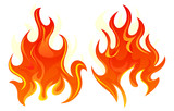 Two fire icon - 123486051