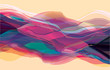 Color waves, abstract surface, modern background, vector design Illustration for you project - 123489033