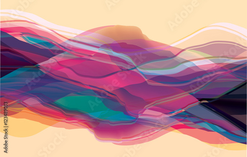 Color waves, abstract surface, modern background, vector design Illustration for you project