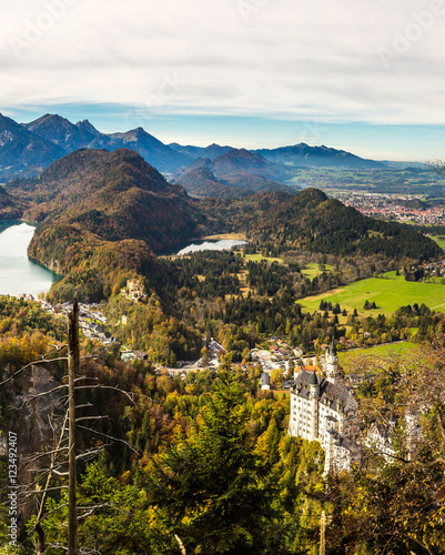 Poster Heuvel Alps and lakes in Germany