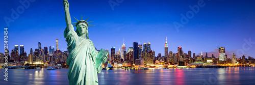 New York City Panorama bei Nacht