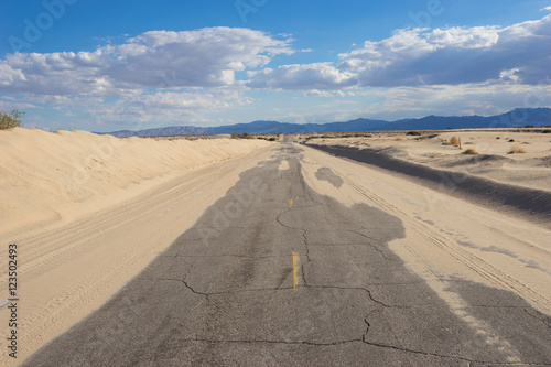 Poster Arizona Sand on Empty Desert Road