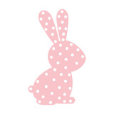 pattern with rabbit domestic animal color vector illustration