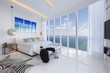 Incredible Designer bedroom with white floor next to Ocean. Cont