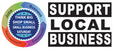 Small Business Saturday - Think Big Shop Small - Support Local Business (white)