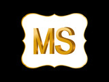 MS Initial Logo for your startup venture.vector illustrator