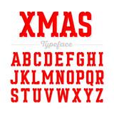 Christmas style font, Xmas typeface.