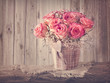 Pink roses flowers