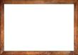 empty wooden retro picture or blackboard frame with old oak wood isolated on white background / Holzrahmen eiche alt rustikal isoliert auf weißem Hintergrund - 123541693