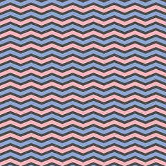 Vector Chevron seamless pattern.Blue and pink zigzag on black background