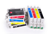 CMYK cartridges for ink jet printer, contains clipping path. - 123551298