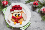 Owl pancake for Christmas breakfast