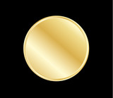 Gold button design - 123551838