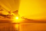 Magic golden sunset over sea