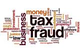 Tax fraud word cloud