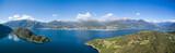 Vista aerea sul lago di Como - Baia di Piona