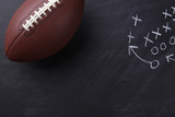 American Football on Chalkboard - 123565833