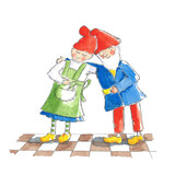 Loving couple gnomes