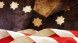 Usa Flag On Wood. Stars and Stripes