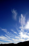 Panorama of high cirrus clouds