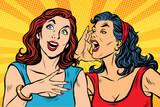two girls pop art scream